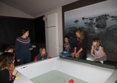 meisjes rond het bad