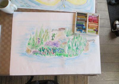 tekening van eiland